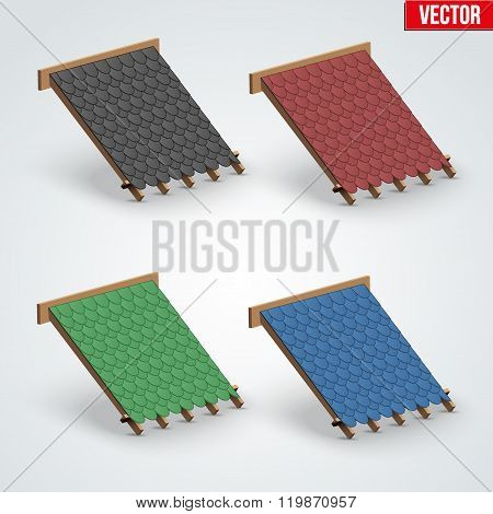 Icons Bitumen Shingles Cover on Roof