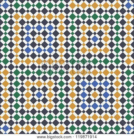 Moroccan Pattern. Mosaic Tiles. Islamic Ornaments. Seamless Vector Background poster