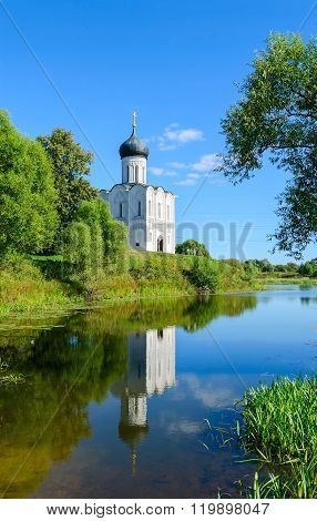 Church Of Intercession On Nerl Near Village Of Bogolyubovo, Russia