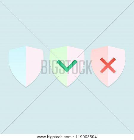 Shield Vector Illustration.
