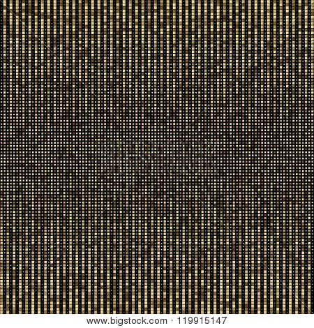 Halftone illustrator. Halftone dots. Halftone effect. Halftone pattern. Vector halftone dots. Golden pixel on black background. Vector Halftone Texture