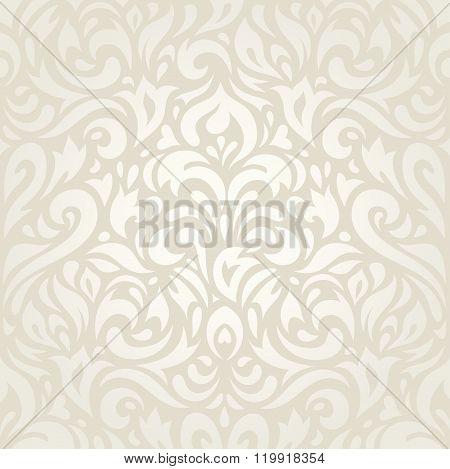 Wedding vintage floral ecru background design