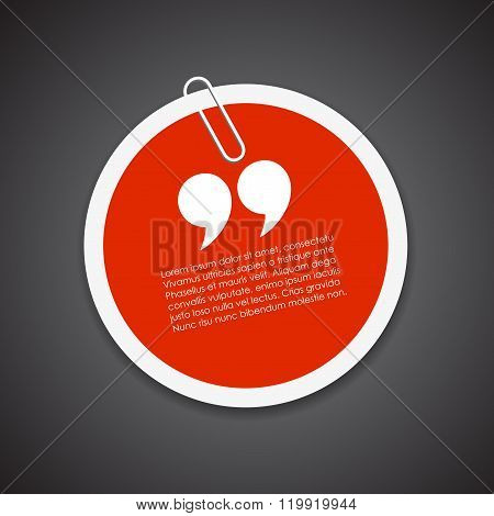 Quote citation sticker