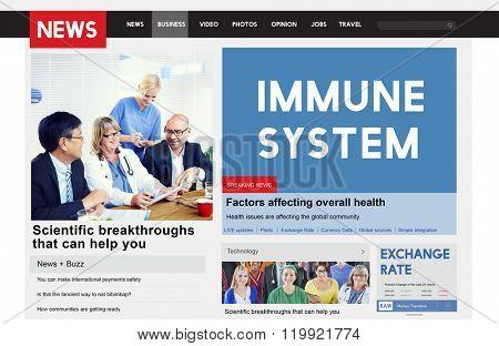 Immune System Healthcare Disease Antibody Concept