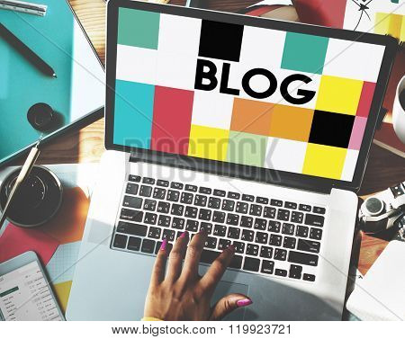 Blog Blogging Homepage Social Media Network Concept