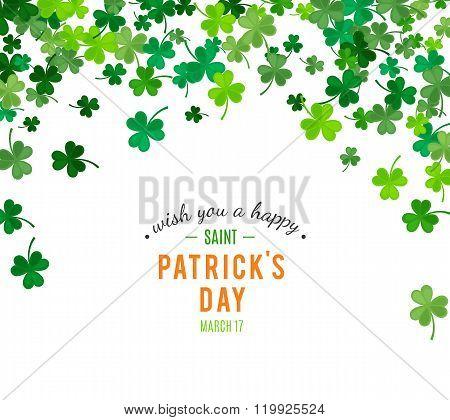 St Patrick's Day background. Vector illustration