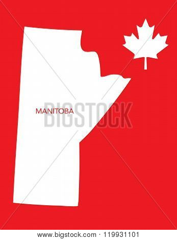 Vector Canadian Province Map and Icon - Manitoba