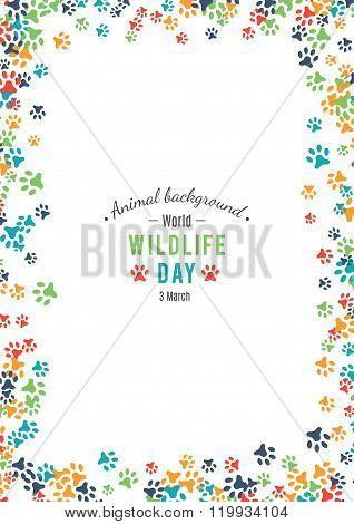 Vector background of world wildlife day