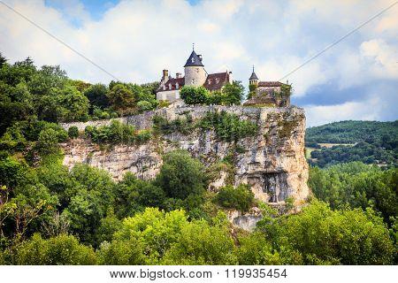 Belcastel - impressive castle over rock  , France