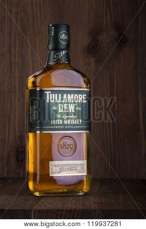 One Bottle Of Tullamore Dew Irish Whiskey