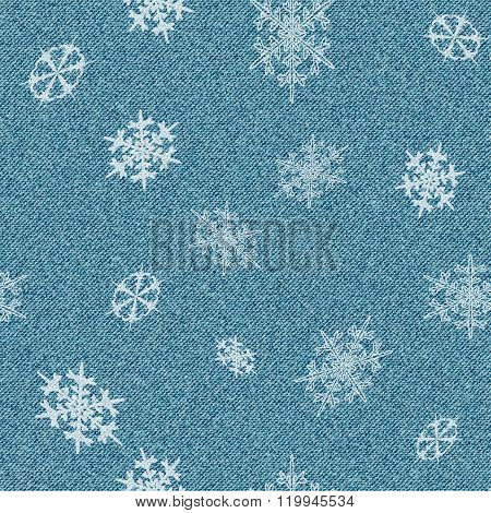 Jeans With Snowflakes