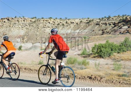 Rider In A Red Shirt