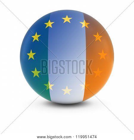 Irish And European Flag Ball - Fading Flags Of Ireland And The Eu
