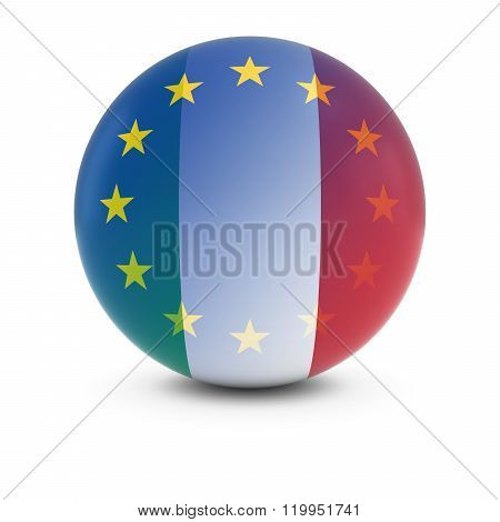 Italian And European Flag Ball - Fading Flags Of Italy And The Eu