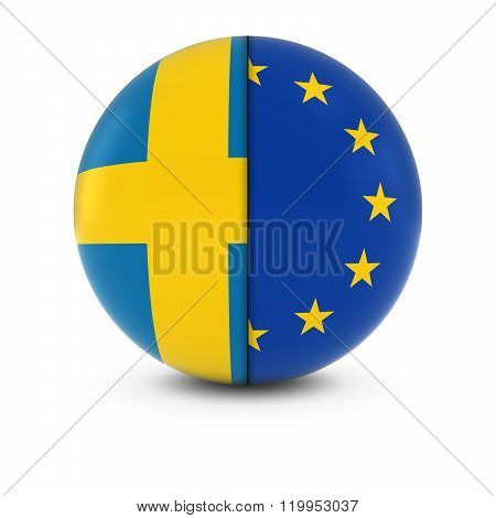 Swedish And European Flag Ball - Split Flags Of Sweden And The Eu