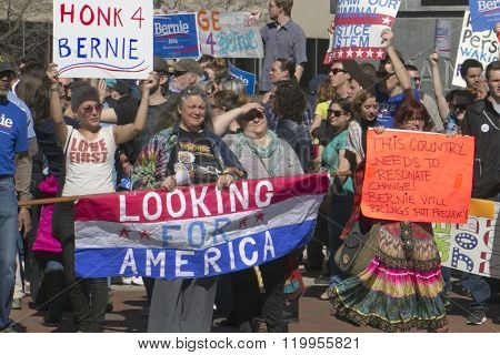 Crowded Bernie Sanders Support Rally
