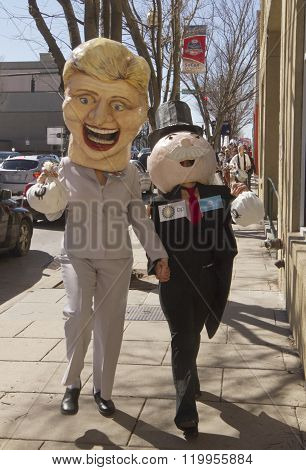 Hillary And Mr. Moneybags Holding Hands