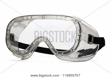 Safety Glasses, Isolated On White Background