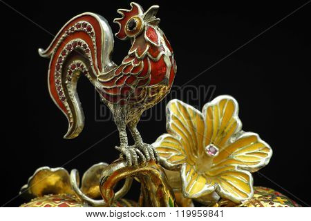 Cock of the gold silver