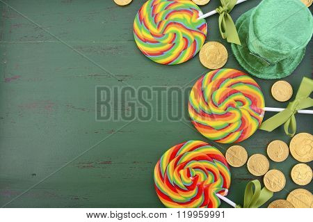 St Patricks Day Rainbow Lollipops