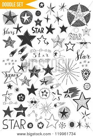 Hand drawn set - Stars