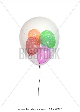 3D Balloons Nested