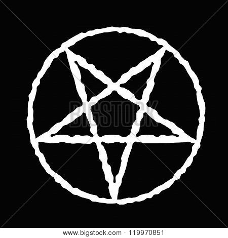 Pentagram vector icon. satanic sign gothic style. Vector illustration.