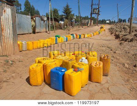 Waiting for water on the Mount Entoto EthiopiaAddis Ababa