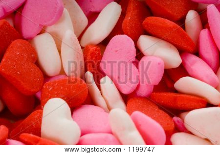 Candy Valentine'S Hearts - Close-Up