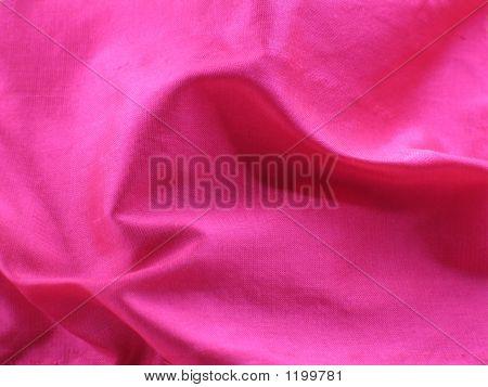 Swirling Folds Of Pink Raw Silk