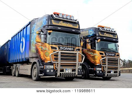 Two Customized Scania Euro 6 Trucks