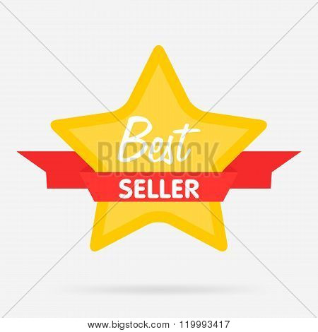 Best seller vector badge. Web sticker. Best seller sign. Special offer icon. Best seller template design. Best seller icon. Special offer badge. Best seller badge. Best seller stamp. Design of ad offer. Isolated best seller icon. Best seller stamp. Star.