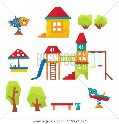 Children Playground Vector Illustration