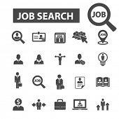 job search icons, job search logo, cv icons vector, cv flat illustration concept, cv infographics elements isolated on white background, cv logo, cv symbols set, cv, human resources, recruiting poster