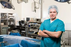 Surgeon in operating theatre