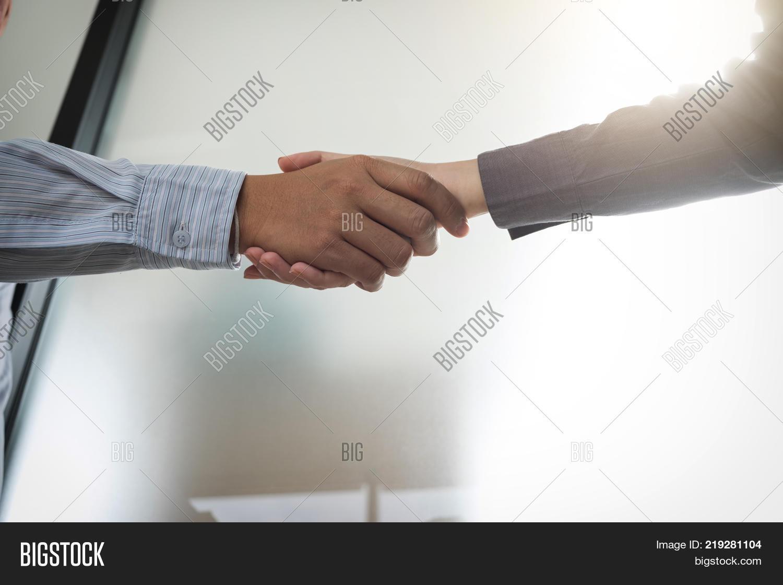 Meeting Greeting Image Photo Free Trial Bigstock