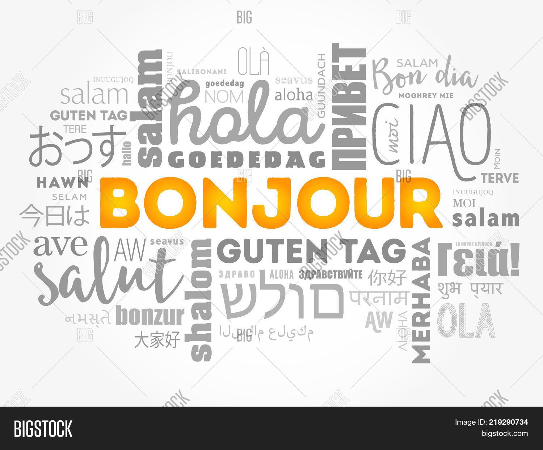 Bonjour Hello Image Photo Free Trial Bigstock