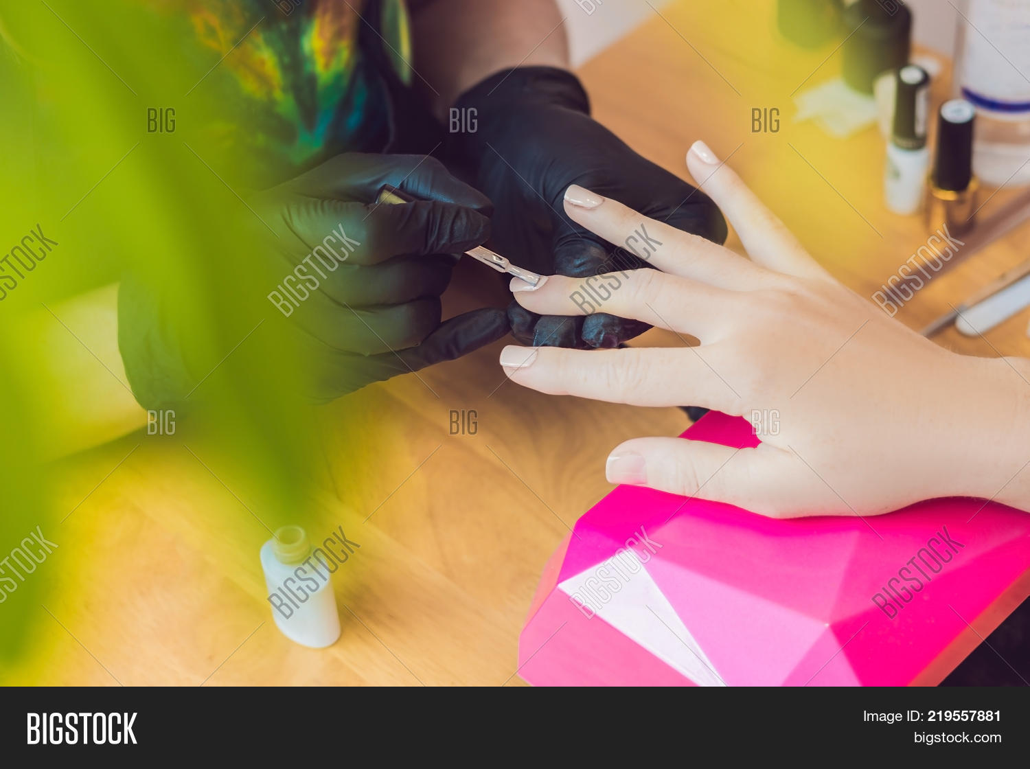 Closeup Finger Nail Care By Image & Photo | Bigstock