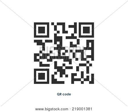 Vector QR code scanning illustration. Marketing and business