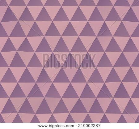 Abstract seamless pattern of irregular triangles in pink colors