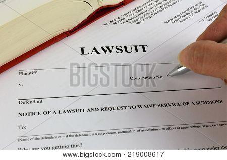 An concept Image of a lawsuit, law