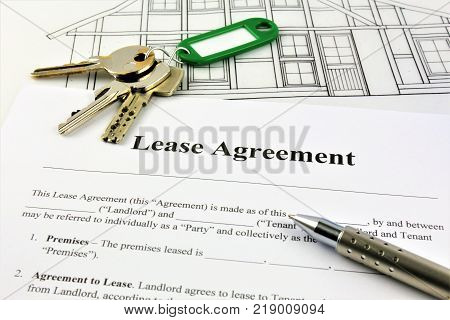 An concept Image of a Lease Agreement