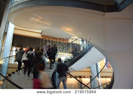 March 27 2017-Strasbourg-Alsace-France-The European Parliament in Strasbourg opens its doors to European schoolchildren by allowing visitors to visit the interior and its architectural structure