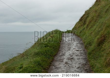 path above the coast at the Giant's Causeway, Northern Ireland