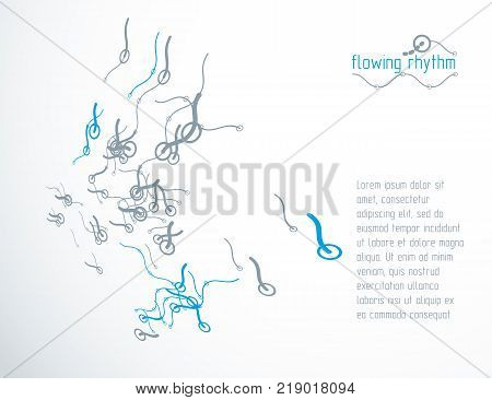 Technological vector backdrop made with abstract lines. Modern geometric composition for use as advertising banner.
