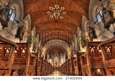 Intricate architecture at Santhome Bascillica in Chennai India