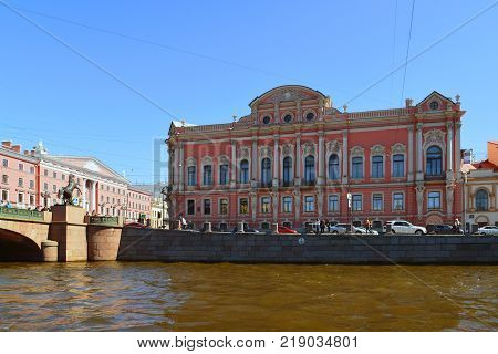 St. Petersburg, Russia - June 04.2017 View of the Beloselsky-Belozersky Palace