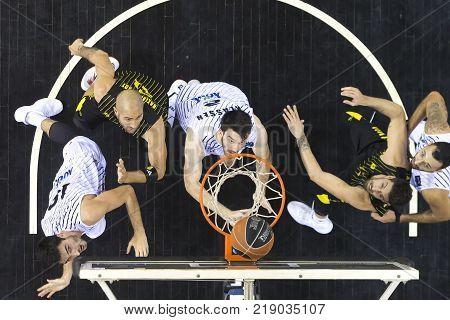 Greek Basket League Game Paok Vs Aris At Paok Sports Arena.