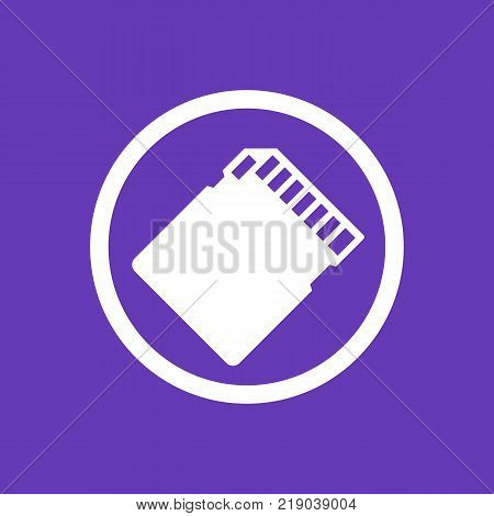 SD card icon, vector pictogram, eps 10 file, easy to edit