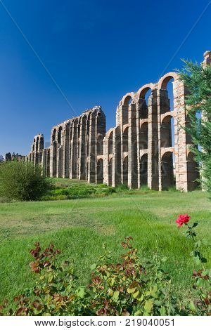 The Miracles' aqueduct from Roman epoch placed on ancient Roman province Lusitania